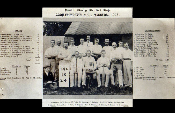 Godmanchester Cricket Team Photo 1903 - Smith Barry Cup